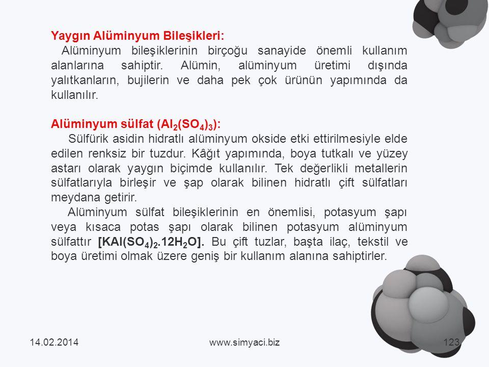 Yaygın Alüminyum Bileşikleri: