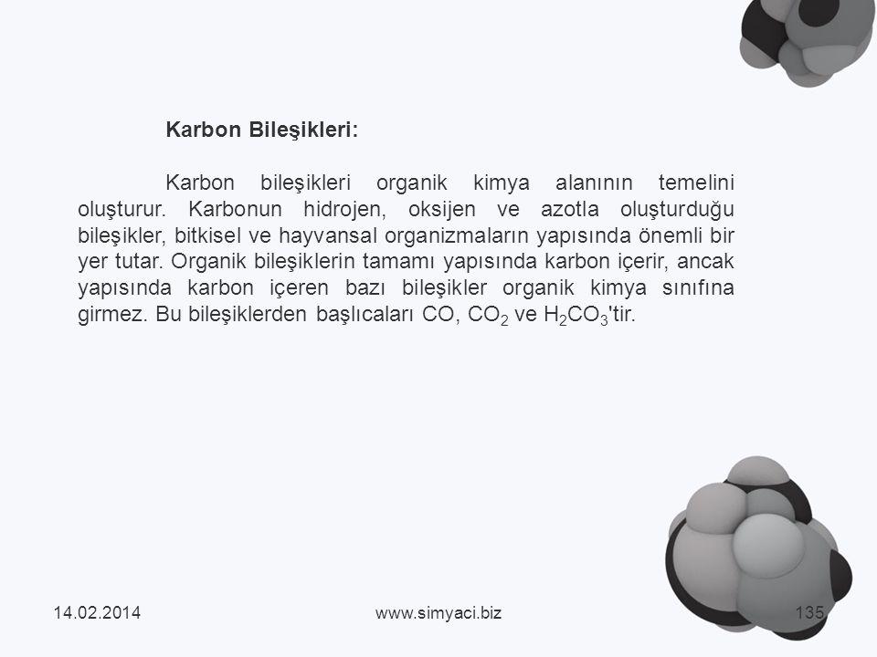 Karbon Bileşikleri: