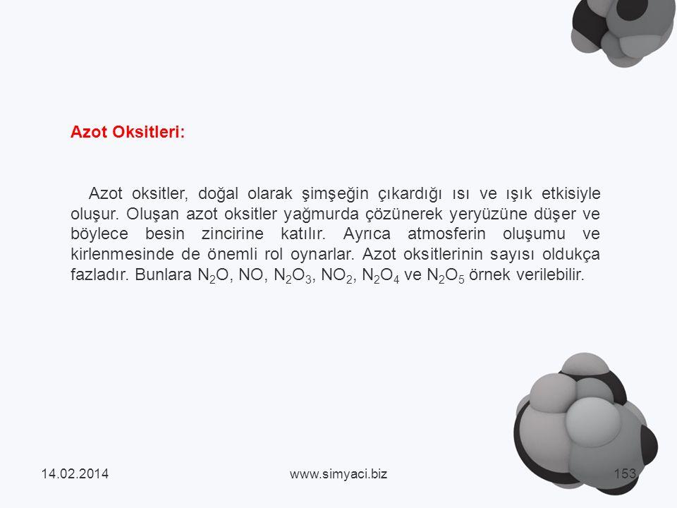 Azot Oksitleri: