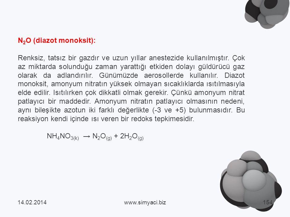 N2O (diazot monoksit):