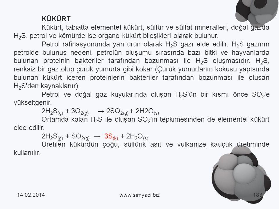 2H2S(g) + 3O2(g) → 2SO2(g) + 2H2O(s)