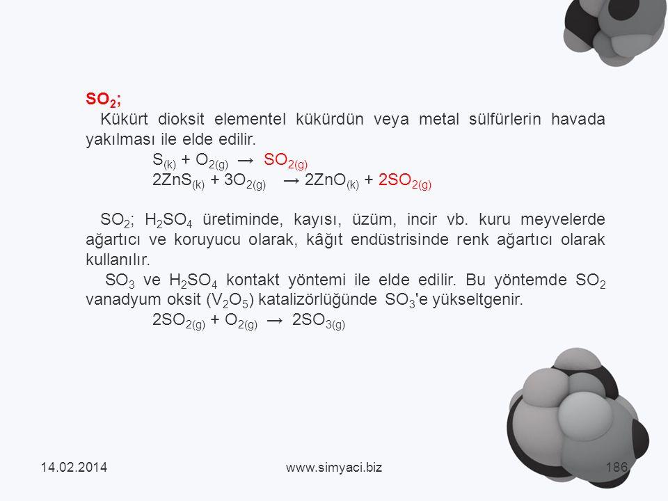 2ZnS(k) + 3O2(g) → 2ZnO(k) + 2SO2(g)