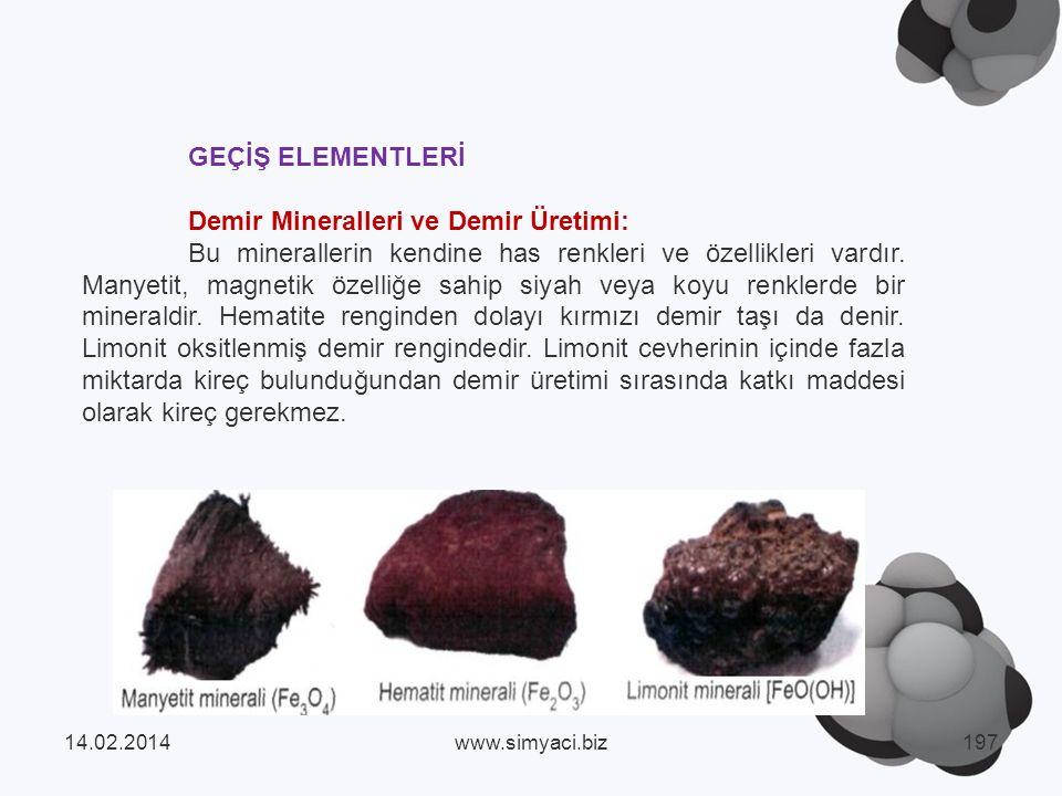 Demir Mineralleri ve Demir Üretimi: