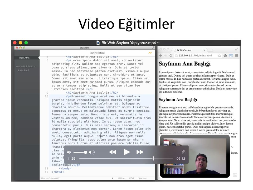 Video Eğitimler