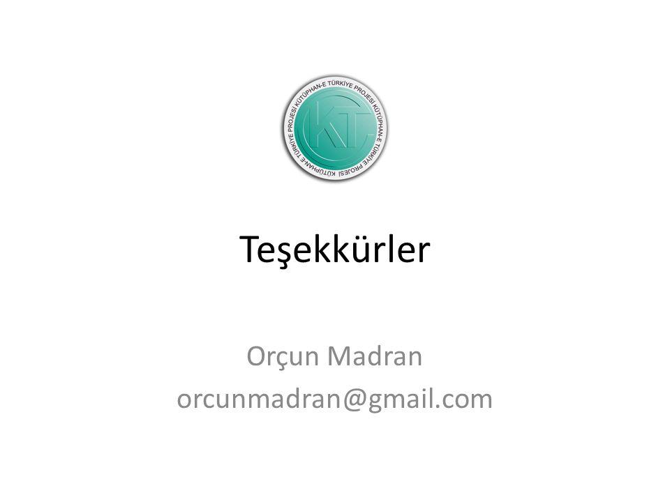 Orçun Madran orcunmadran@gmail.com