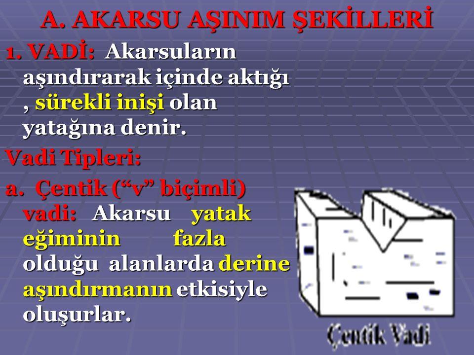 A. AKARSU AŞINIM ŞEKİLLERİ
