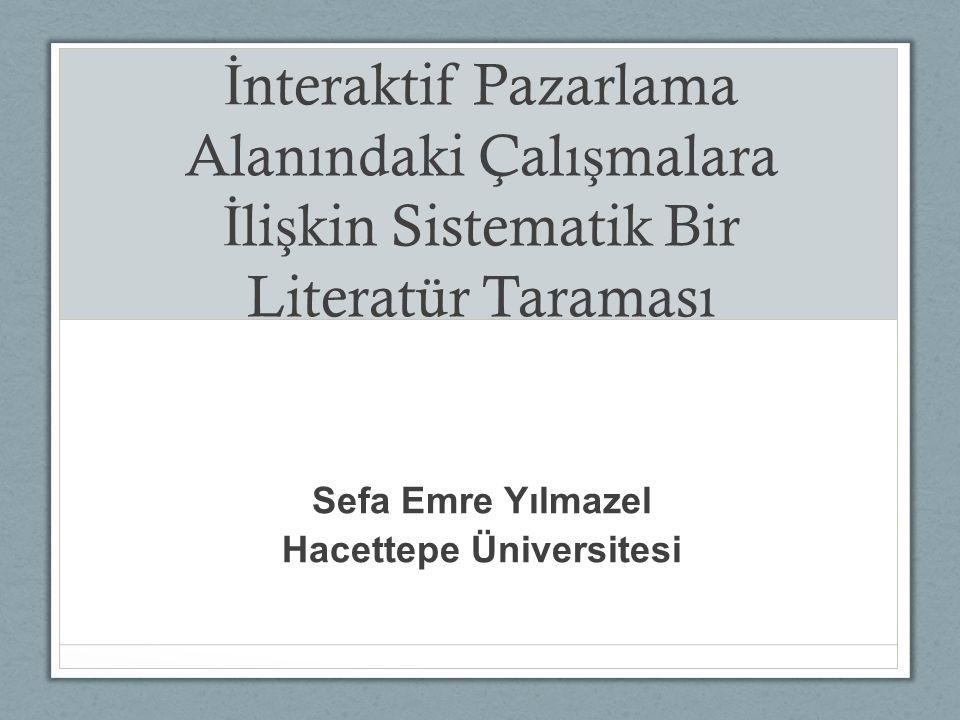Sefa Emre Yılmazel Hacettepe Üniversitesi