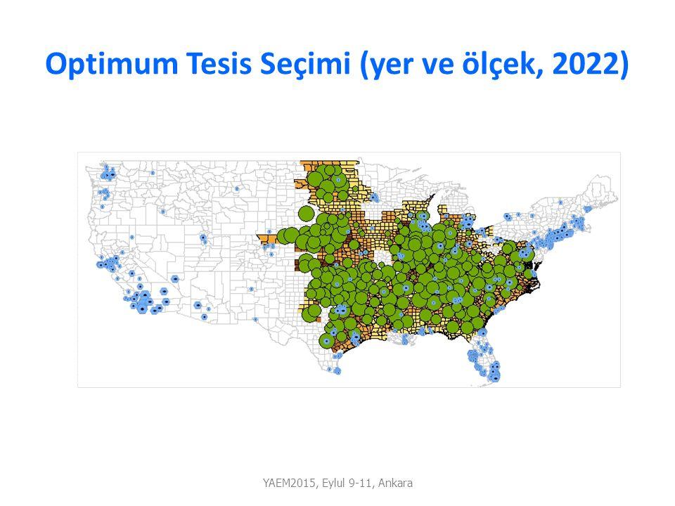 Optimum Tesis Seçimi (yer ve ölçek, 2022)