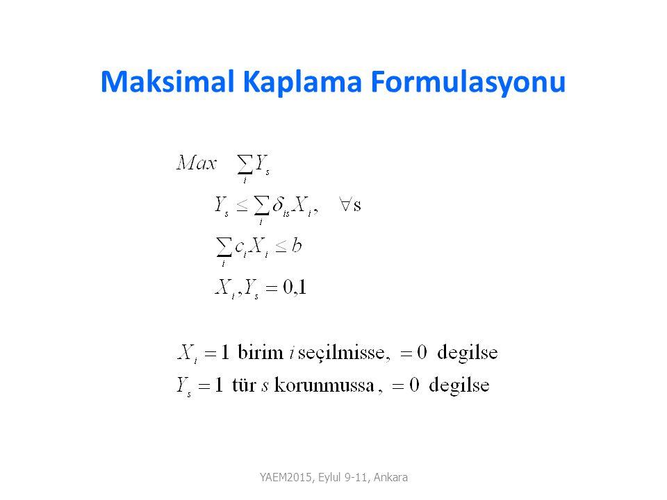 Maksimal Kaplama Formulasyonu