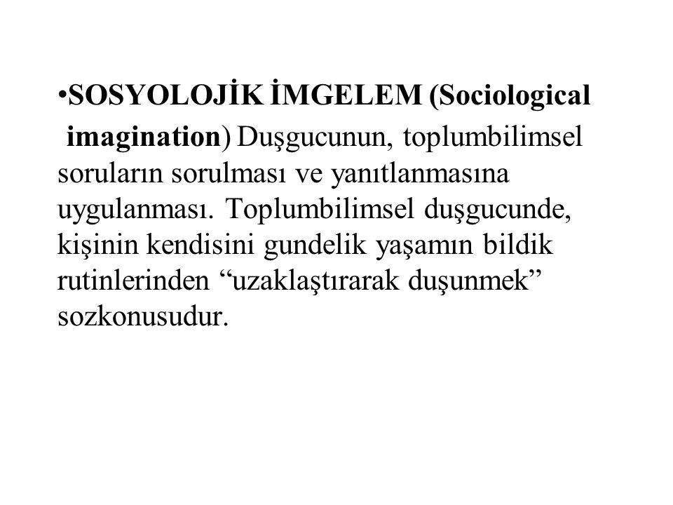 SOSYOLOJİK İMGELEM (Sociological
