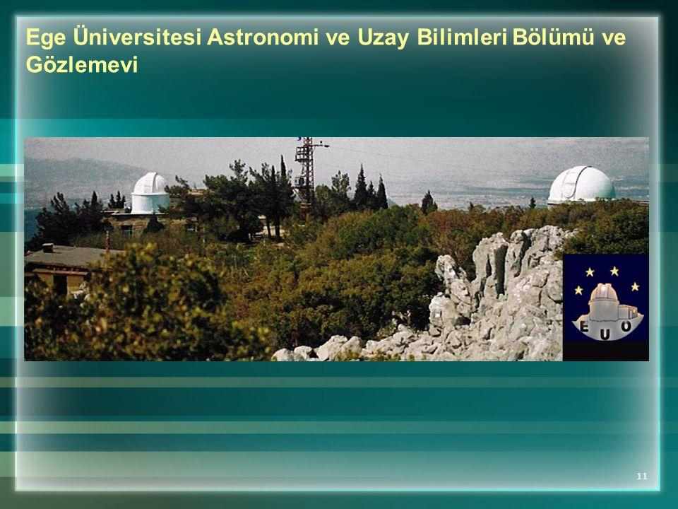 Ege Üniversitesi Astronomi ve Uzay Bilimleri Bölümü ve Gözlemevi