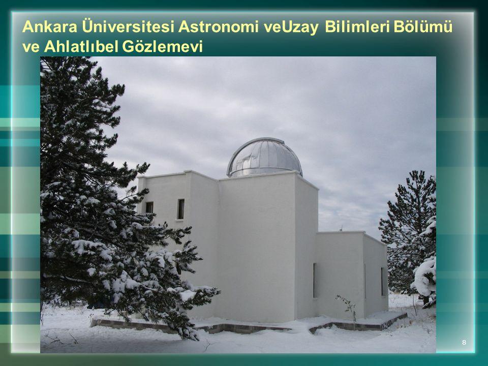 Ankara Üniversitesi Astronomi veUzay Bilimleri Bölümü ve Ahlatlıbel Gözlemevi