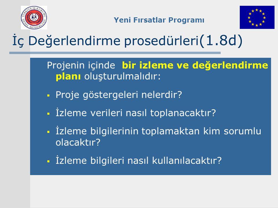 İç Değerlendirme prosedürleri(1.8d)