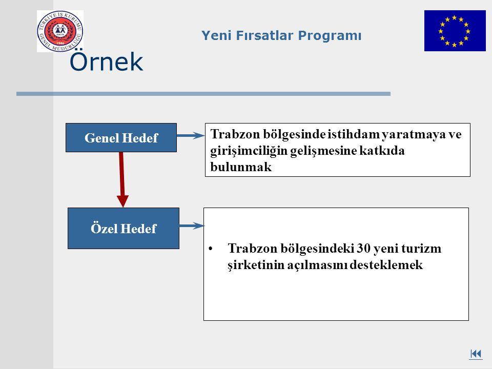 Örnek Genel Hedef. Trabzon bölgesinde istihdam yaratmaya ve girişimciliğin gelişmesine katkıda bulunmak.