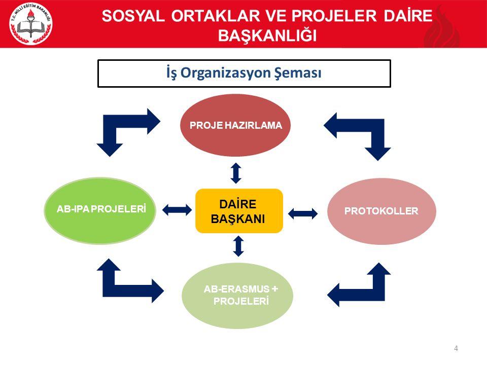 İş Organizasyon Şeması AB-ERASMUS + PROJELERİ
