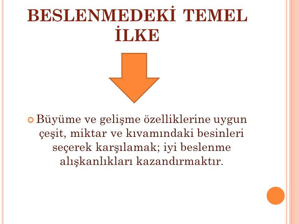 BESLENMEDEKİ TEMEL İLKE
