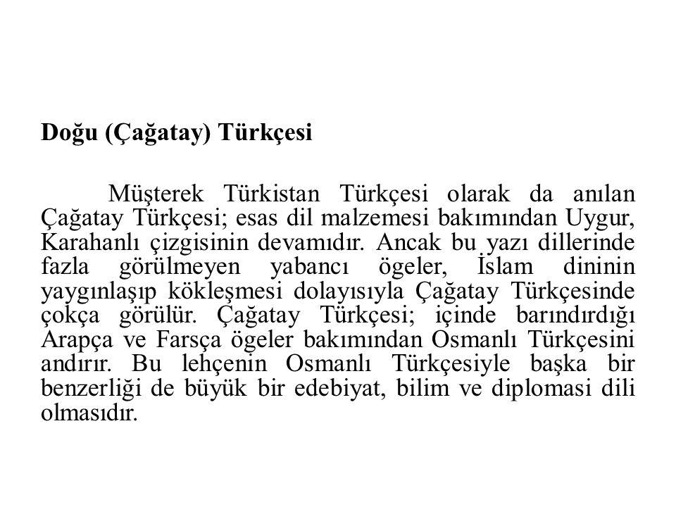 Doğu (Çağatay) Türkçesi