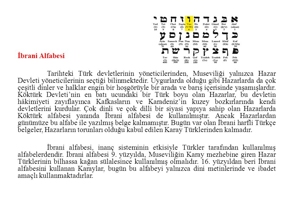 İbrani Alfabesi