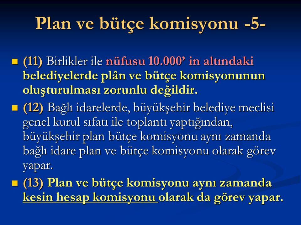Plan ve bütçe komisyonu -5-