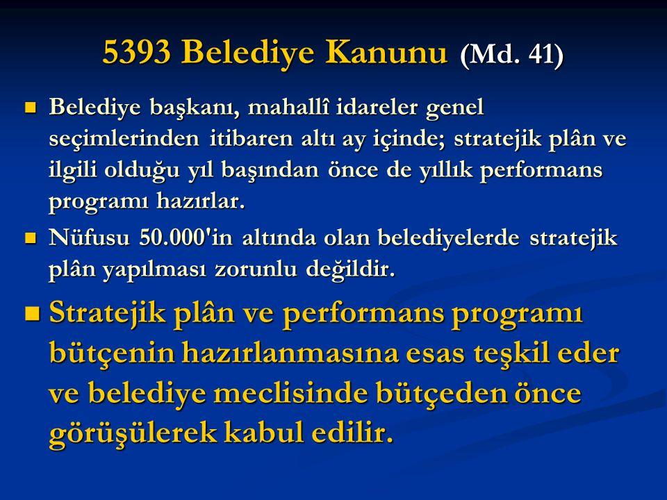 5393 Belediye Kanunu (Md. 41)