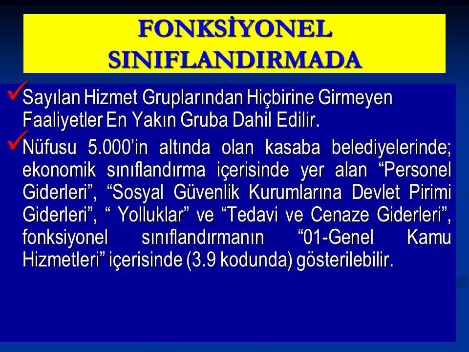 FONKSİYONEL SINIFLANDIRMADA