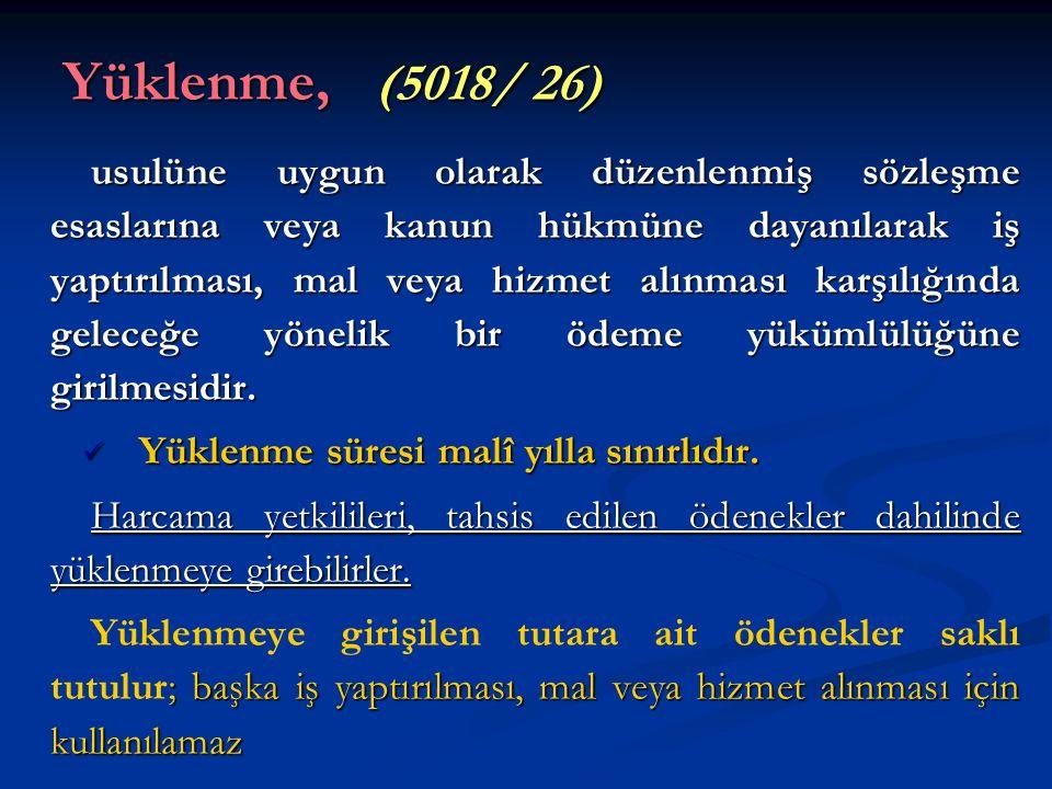 Yüklenme, (5018/ 26)