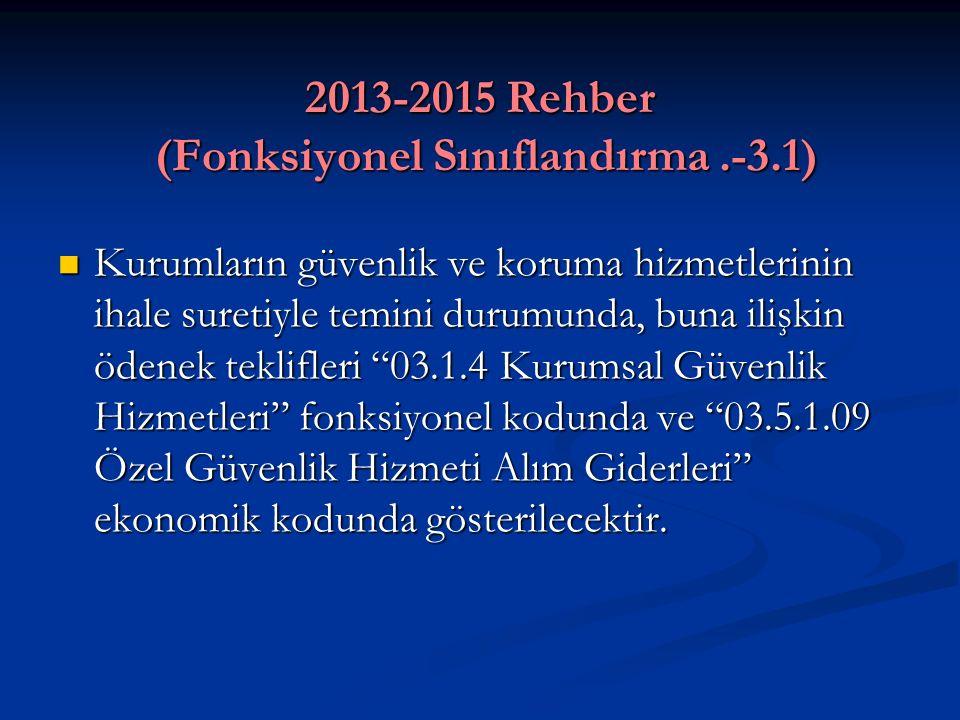 2013-2015 Rehber (Fonksiyonel Sınıflandırma .-3.1)