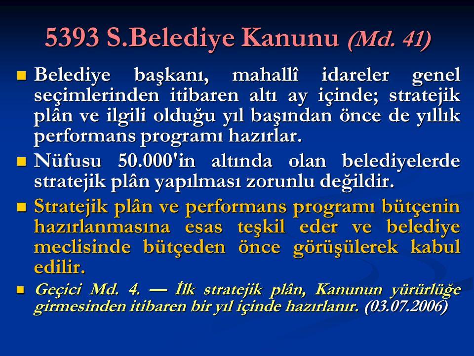 5393 S.Belediye Kanunu (Md. 41)