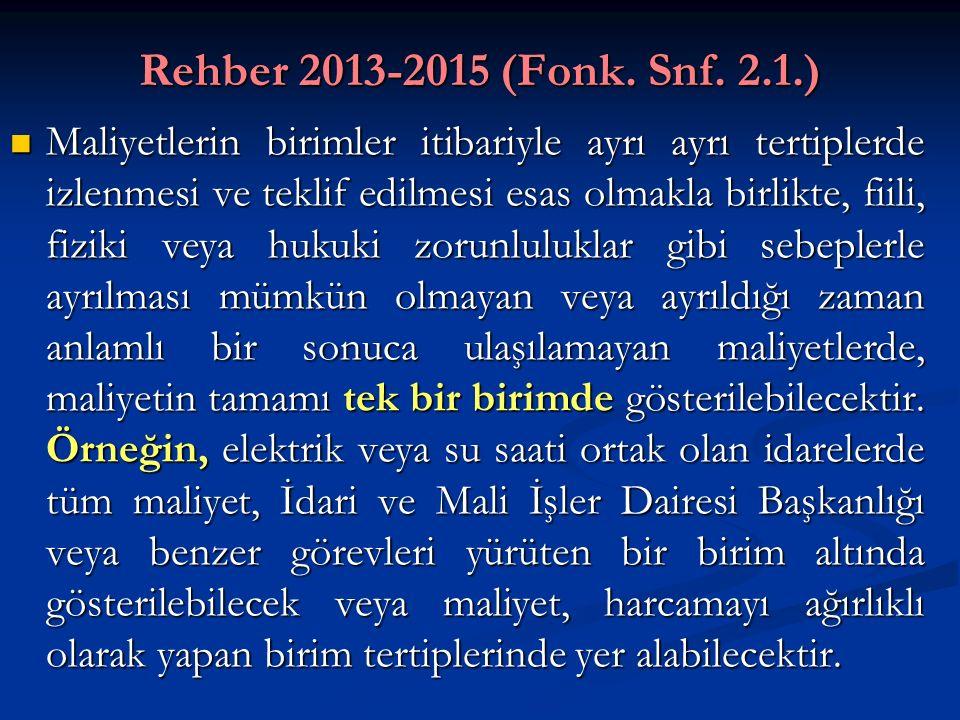 Rehber 2013-2015 (Fonk. Snf. 2.1.)