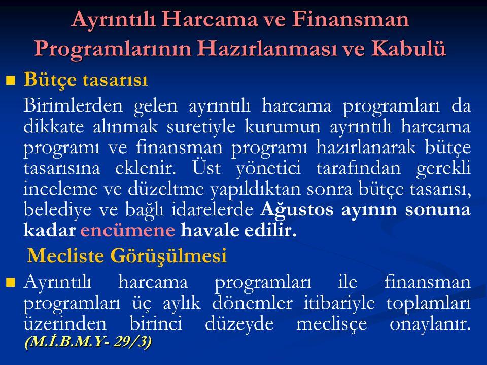 Ayrıntılı Harcama ve Finansman Programlarının Hazırlanması ve Kabulü
