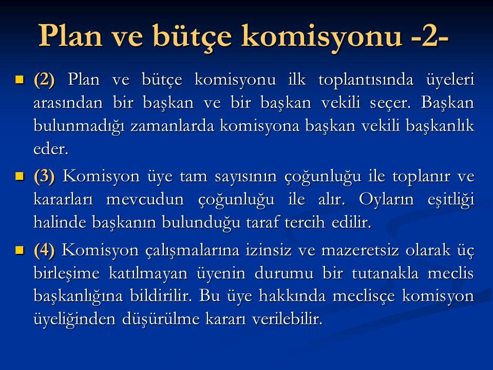 Plan ve bütçe komisyonu -2-