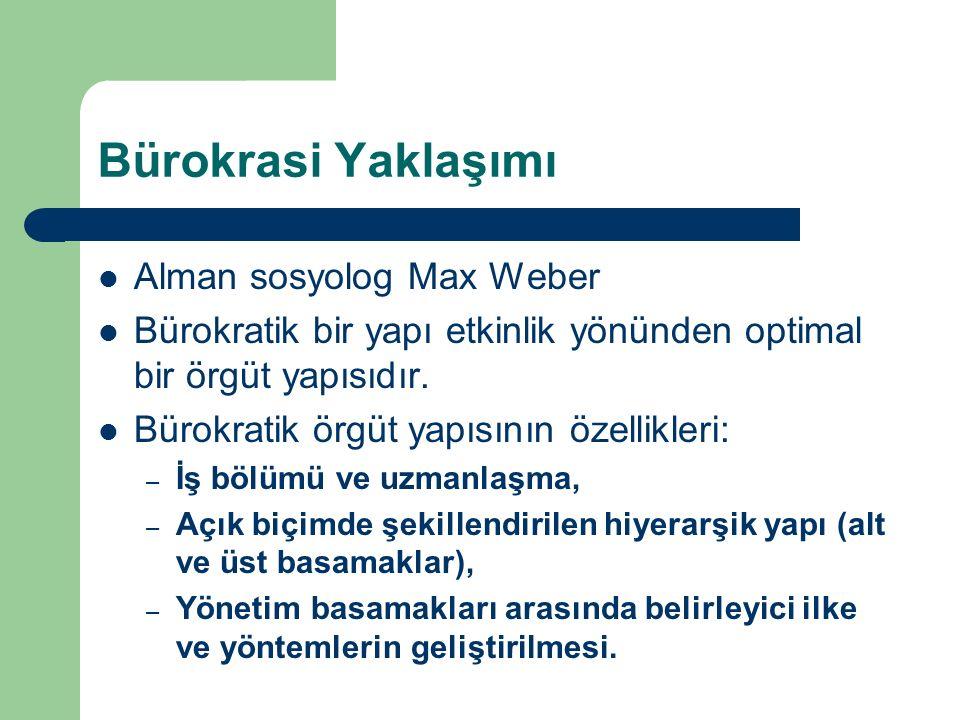 Bürokrasi Yaklaşımı Alman sosyolog Max Weber