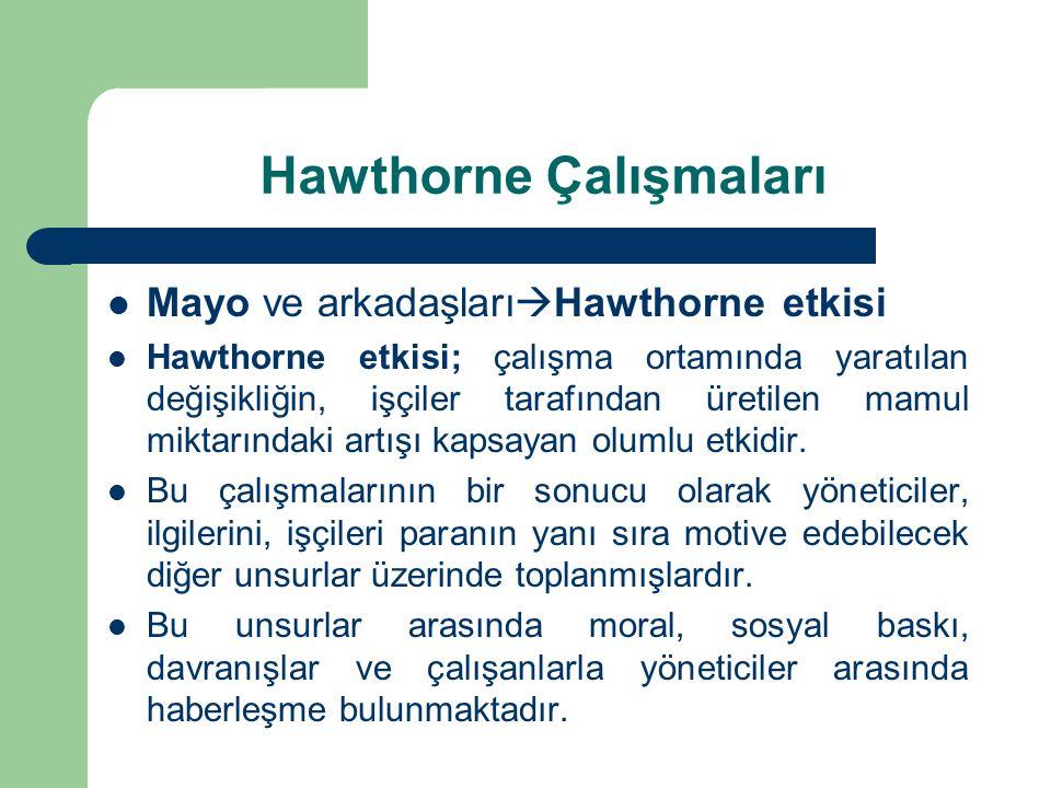 Hawthorne Çalışmaları