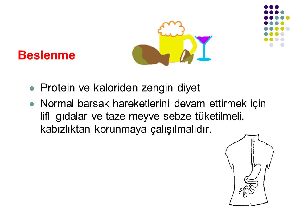 Beslenme Protein ve kaloriden zengin diyet