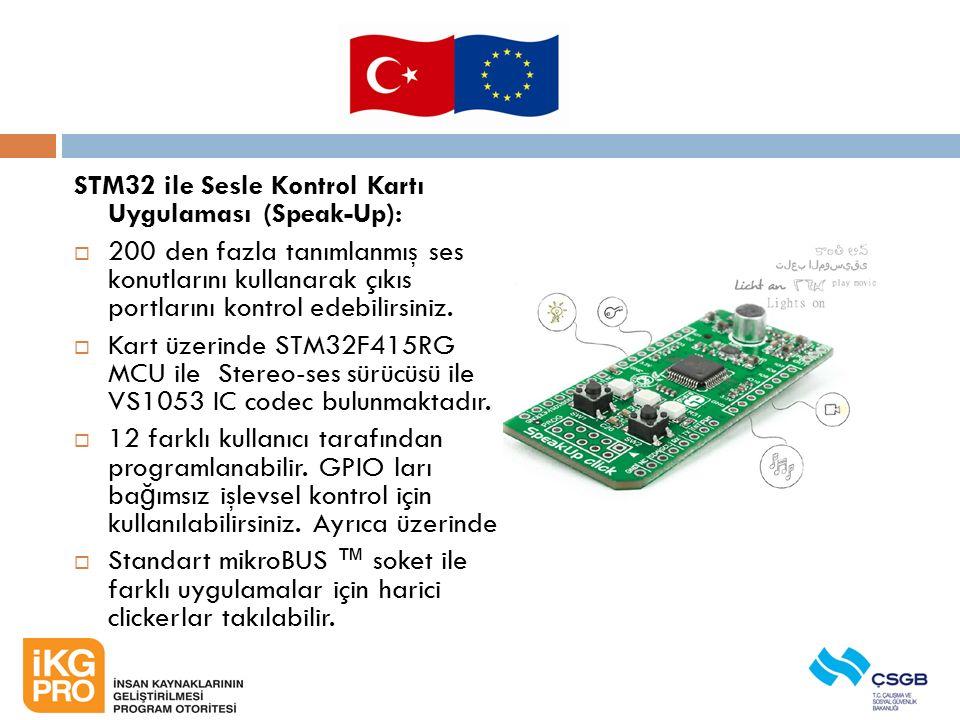 STM32 ile Sesle Kontrol Kartı Uygulaması (Speak-Up):