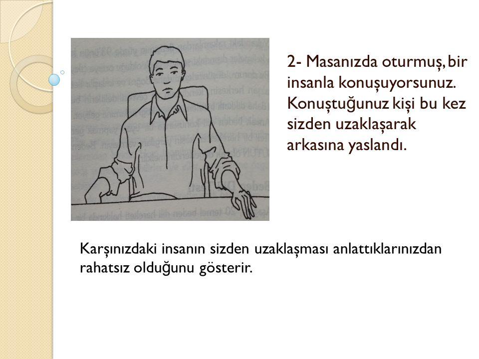 2- Masanızda oturmuş, bir insanla konuşuyorsunuz