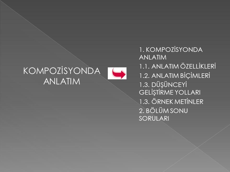 KOMPOZİSYONDA ANLATIM