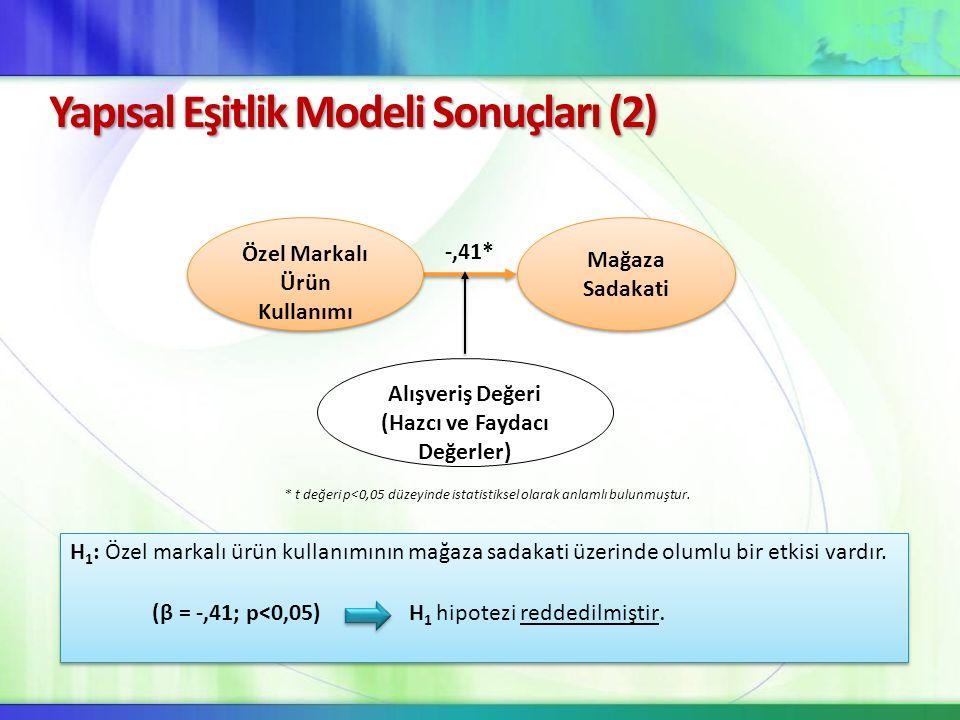 Yapısal Eşitlik Modeli Sonuçları (2)
