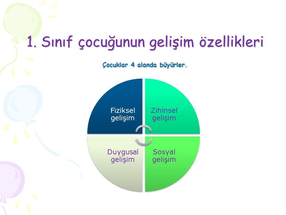 1. Sınıf çocuğunun gelişim özellikleri
