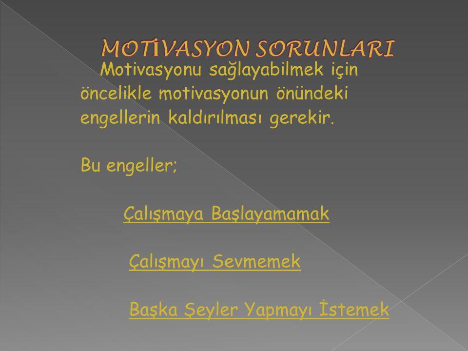 MOTİVASYON SORUNLARI