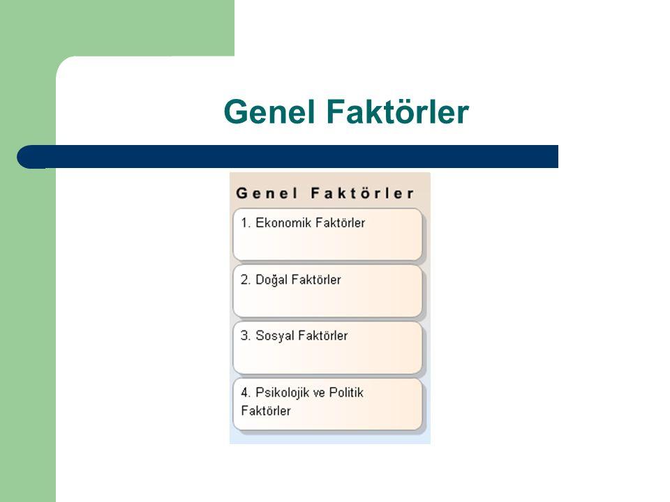 Genel Faktörler