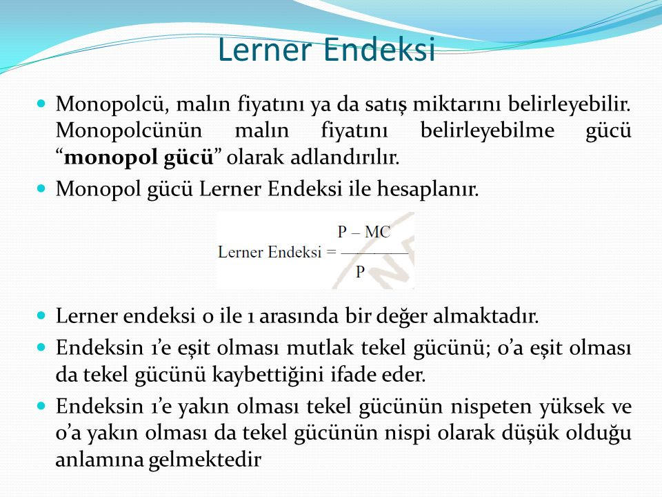 Lerner Endeksi