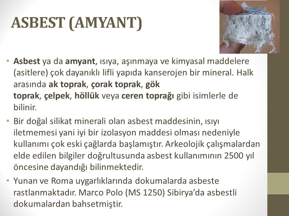 ASBEST (AMYANT)