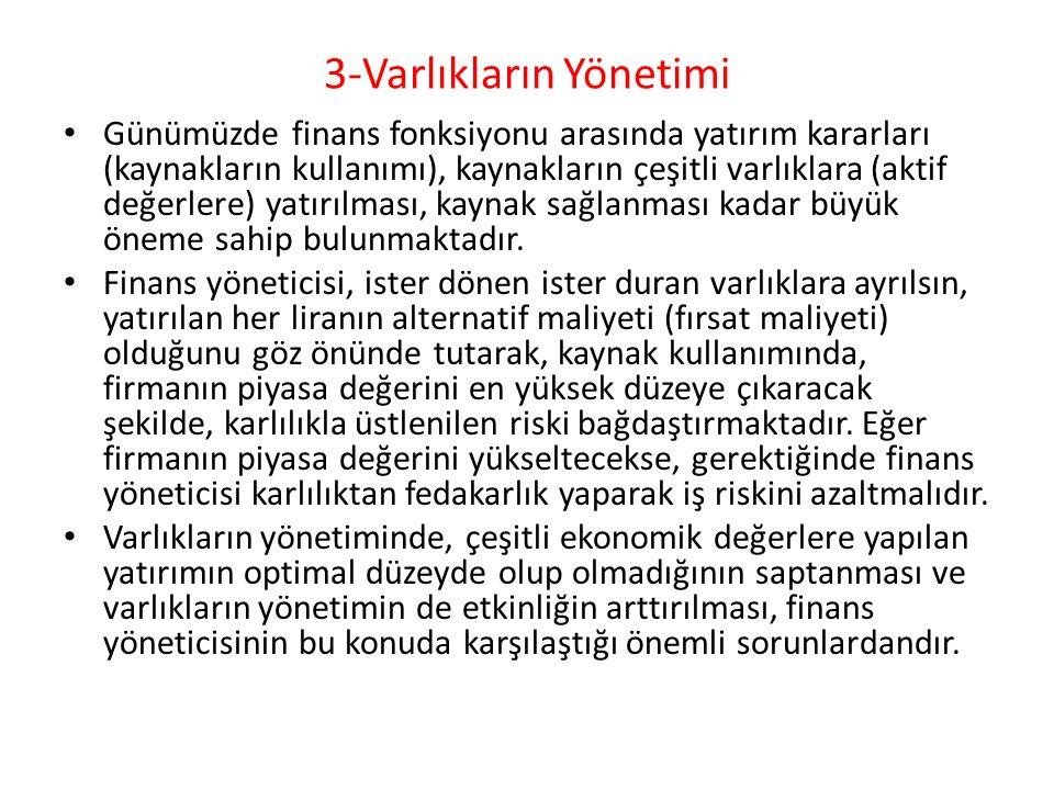 3-Varlıkların Yönetimi