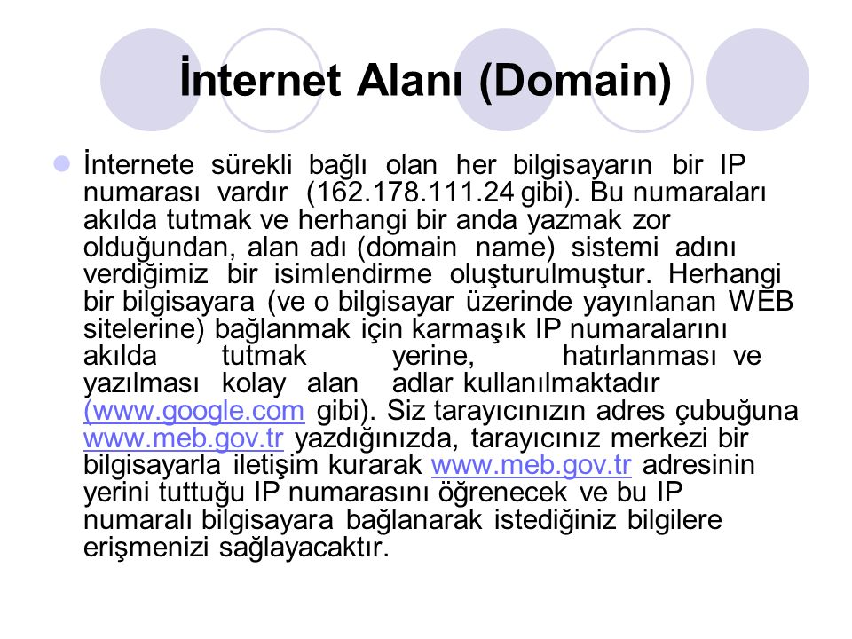 İnternet Alanı (Domain)