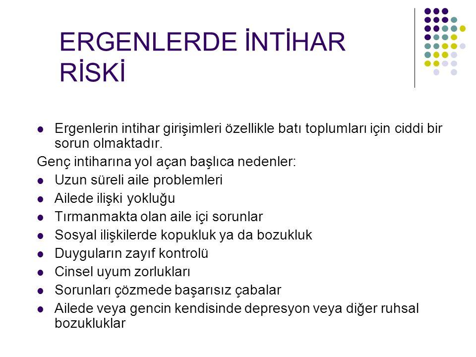 ERGENLERDE İNTİHAR RİSKİ