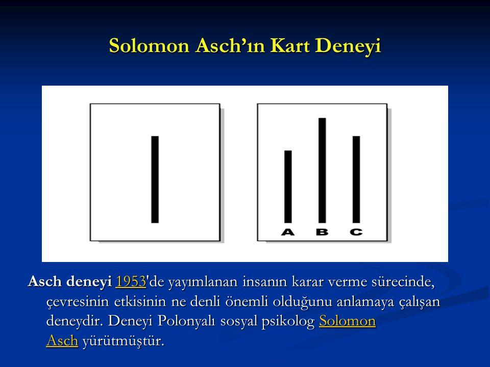 Solomon Asch'ın Kart Deneyi