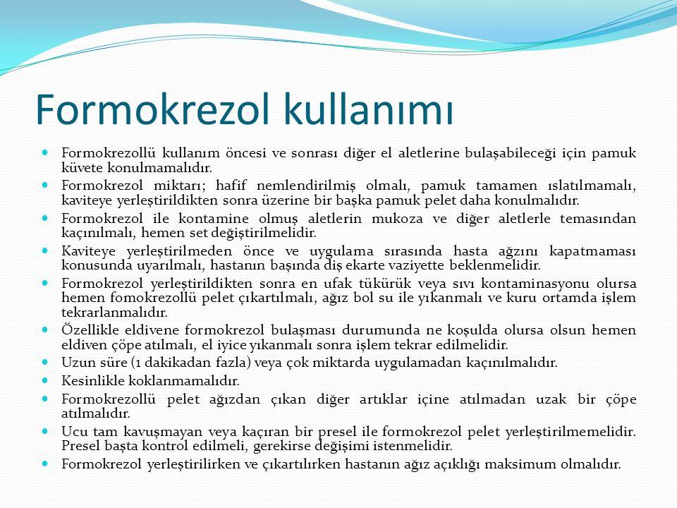 Formokrezol kullanımı