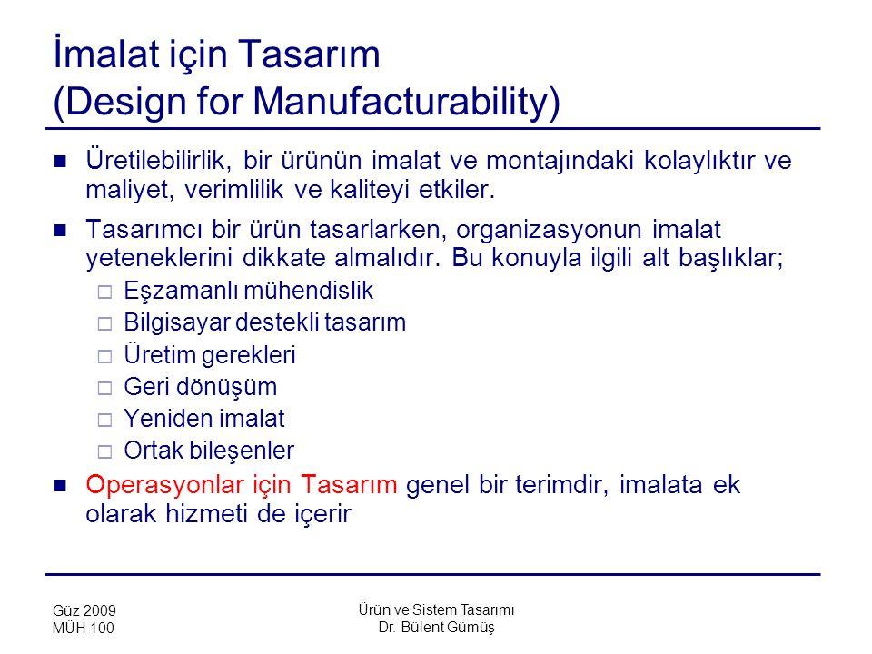 İmalat için Tasarım (Design for Manufacturability)