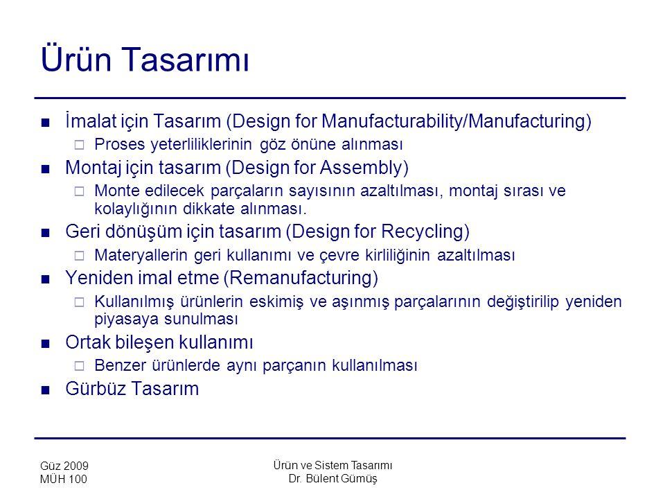Ürün ve Sistem Tasarımı